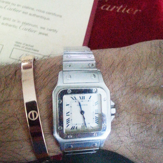 Love Bracelet & Cartier Santos watch