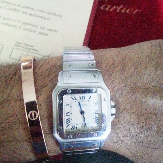 Love Bracelet & Cartier Santos watch